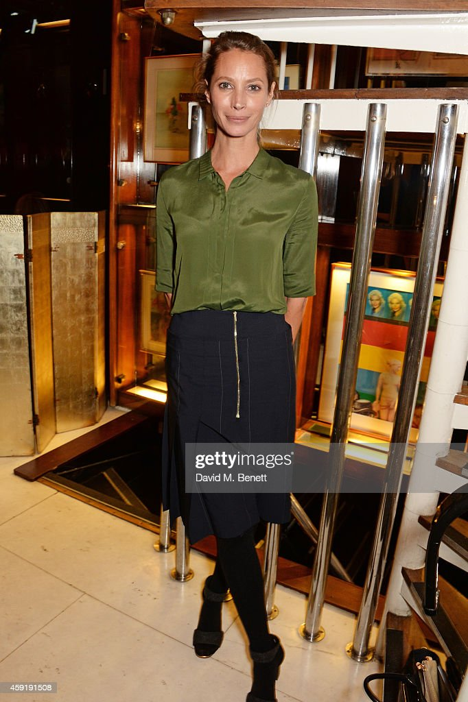Christy Turlington Burns attends a dinner hosted by PORTER in honour of cover girl Christy Turlington Burns and her charity Every Mother Counts at Mr Chow on November 18, 2014 in London, England.