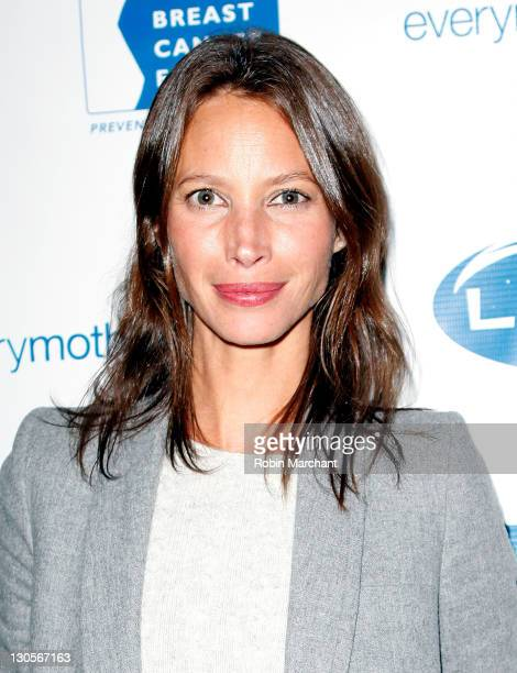 Christy Turlington Burns attends the 11th annual LUNAFEST film festival at Tribeca Cinemas on October 26, 2011 in New York City.