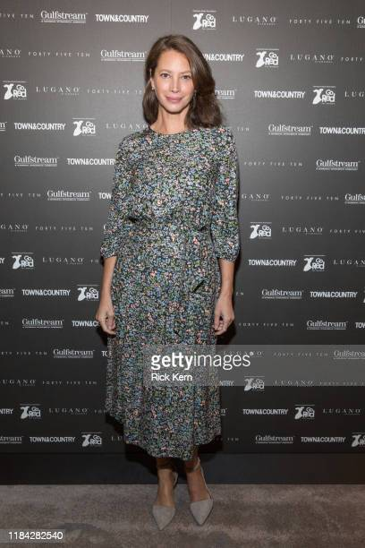 Christy Turlington Burns attends Town Country Third Annual Philanthropy Series Dallas at Hotel Crescent Court on October 29 2019 in Dallas Texas