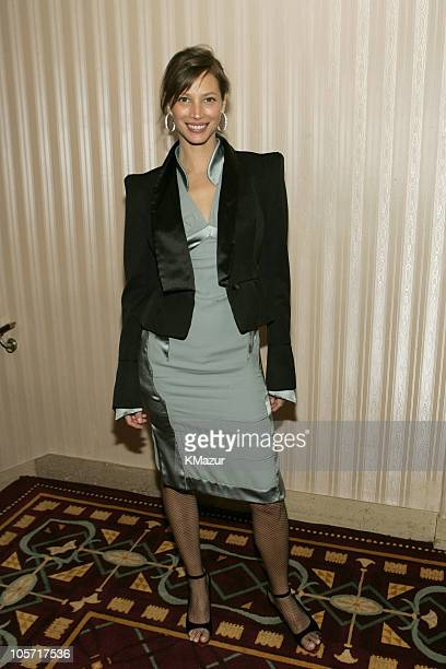 Christy Turlington during 20th Annual Rock and Roll Hall of Fame Induction Ceremony Green Room at Waldorf Astoria in New York City New York United...