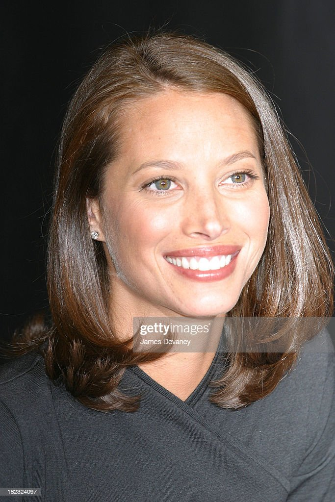Christy Turlington during Christy Turlington signs copies of Living Yoga at Barnes & Noble in New York City, New York, United States.