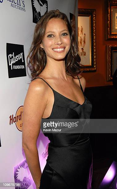 Christy Turlington during Music Rising Presents 'Icons of Music' Auction with Sales of $25 Million April 21 2007 at Hard Rock Cafe in New York City...