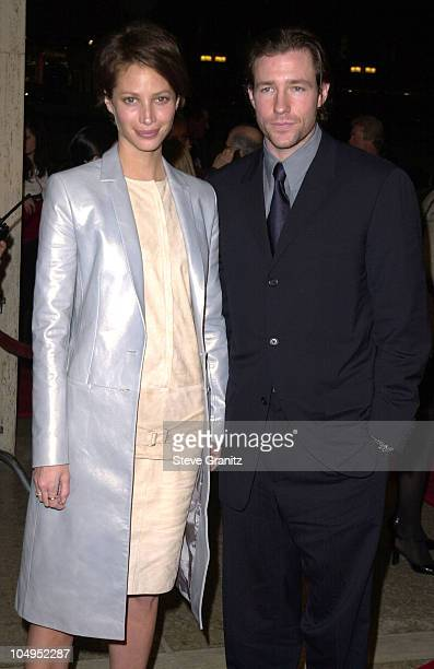 Christy Turlington Edward Burns during 'Fifteen Minutes' Century City Premiere at Loews Cineplex in Century City California United States