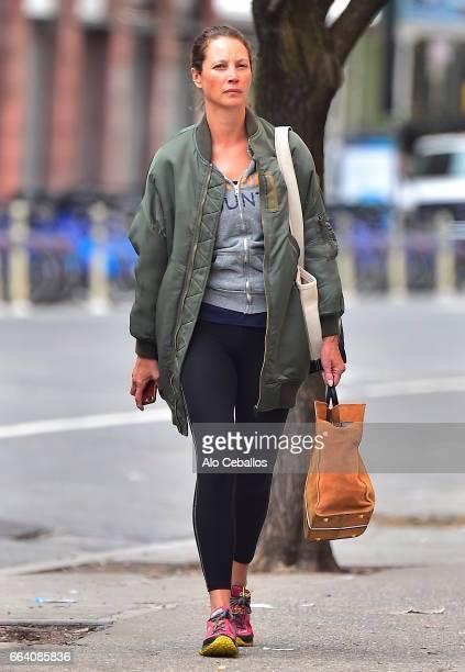 Christy Turlington is seen in Soho on April 3 2017 in New York City