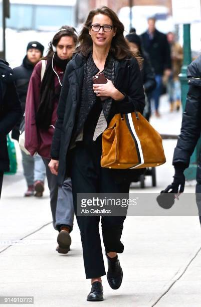 Christy Turlington is seen in Soho on February 6 2018 in New York City
