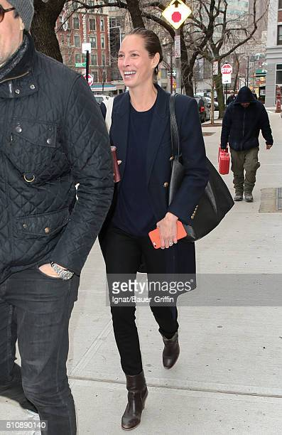 Christy Turlington is seen on February 17 2016 in New York City