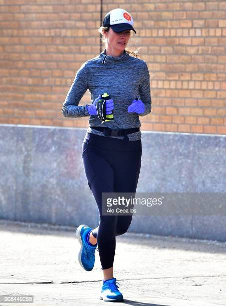 Christy Turlington is seen on the West side Highway on January 21 2018 in New York City