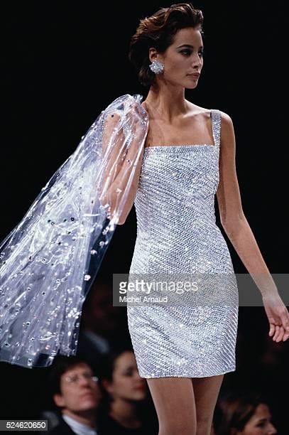 Christy Turlington Modeling Perry Ellis Dress