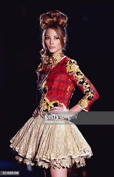 Christy Turlington Modeling Versace Dress