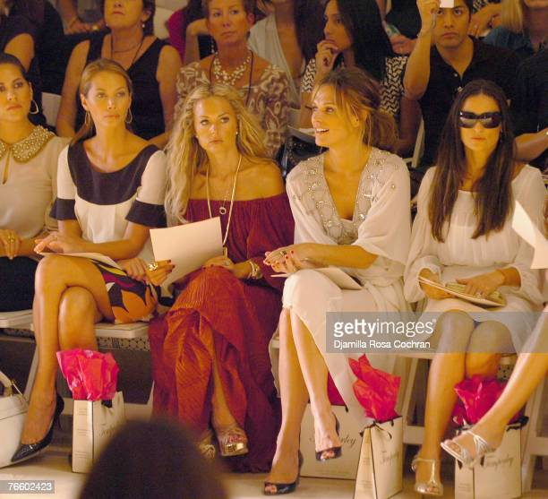 Christy Turlington, Rachel Zoe, Molly Simms and Demi Moore attend the Temperley London Spring 2008 show during Mercedes-Benz Fashion Week at the...