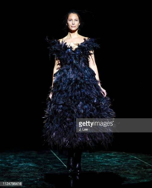 Christy Turlington walks the runway at the Marc Jacobs Show during New York Fashion Week on February 13 2019 in New York City