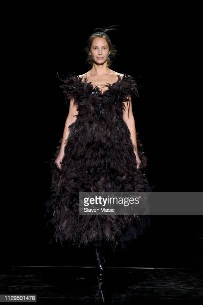 Christy Turlington walks the runway for the Marc Jacobs Fall 2019 Show at Park Avenue Armory on February 13, 2019 in New York City.