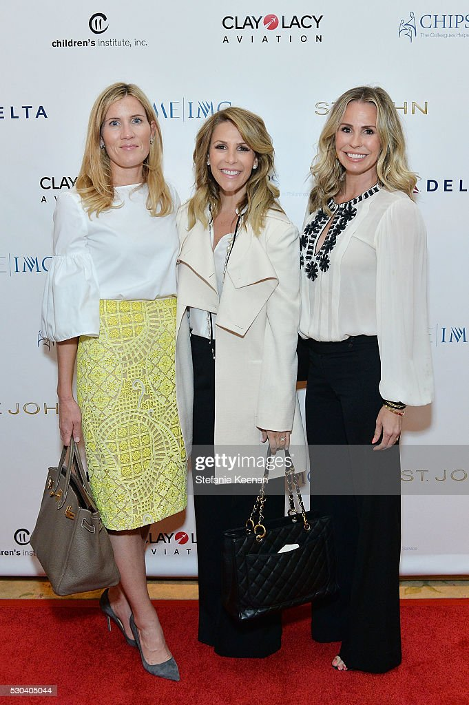 Chritine Weller; Tracy Maltas and Natasha attend CHIPS Luncheon Featuring St. John at Beverly Hills Hotel on May 10, 2016 in Beverly Hills, California.