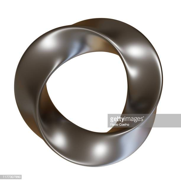 chrome 3d abstract sculpture - twisted stock pictures, royalty-free photos & images