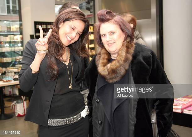 Chrome Hearts designer Laurie Lynn Stark and Suzy Menkes