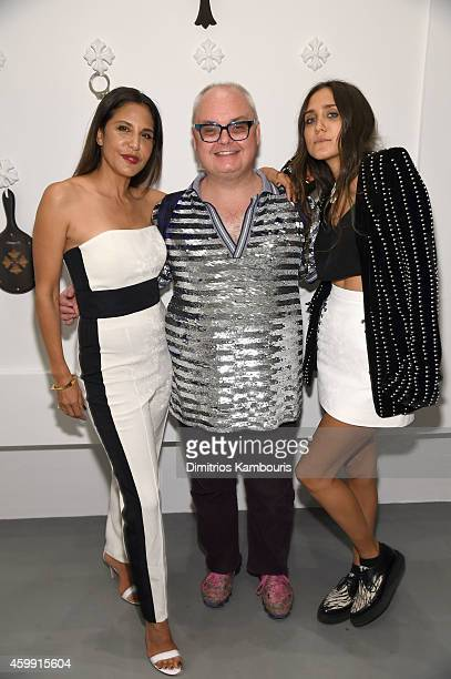 Chrome Hearts Founder Laurie Lynn Stark Paper Magazine's Editorial Director Mickey Boardman and Jesse Jo Stark attend Chrome Hearts Celebrates The...