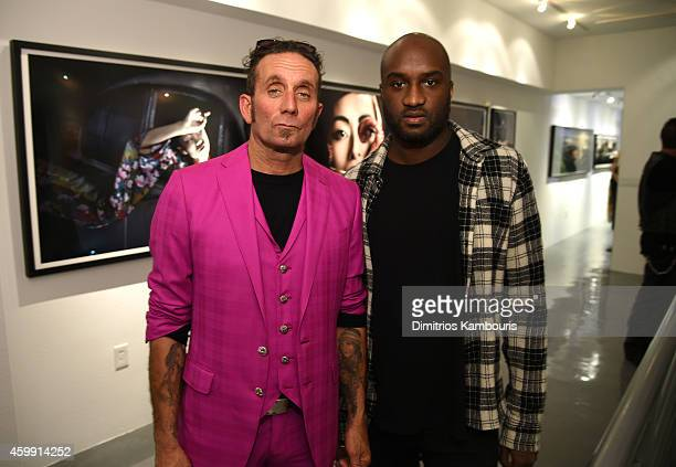 Chrome Hearts Founder Richard Stark and Virgil Abloh attend Chrome Hearts Celebrates The Miami Project During Art Basel With Zoe Kravitz at Miami...