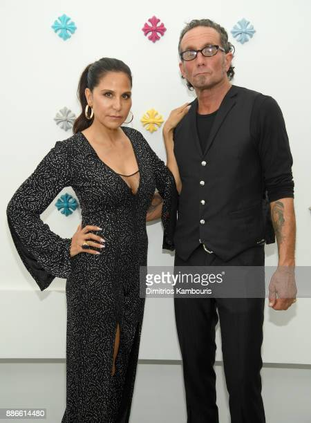 Chrome Hearts founders Laurie Lynn Stark and Richard Stark attend the opening of the new Chrome Hearts Gallery Cafe to celebrate their 3Year...