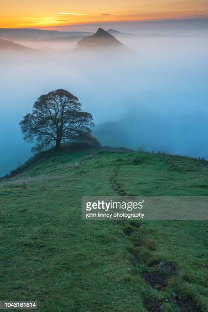 chrome hill and parkhouse hill landscapes at sunrise. english peak district. uk. - atmospheric mood stock pictures, royalty-free photos & images