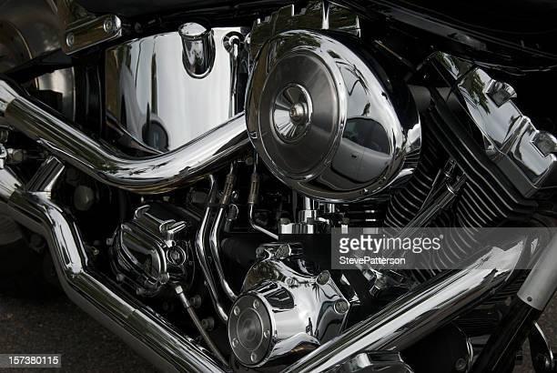 Chrome Motorcycle engine