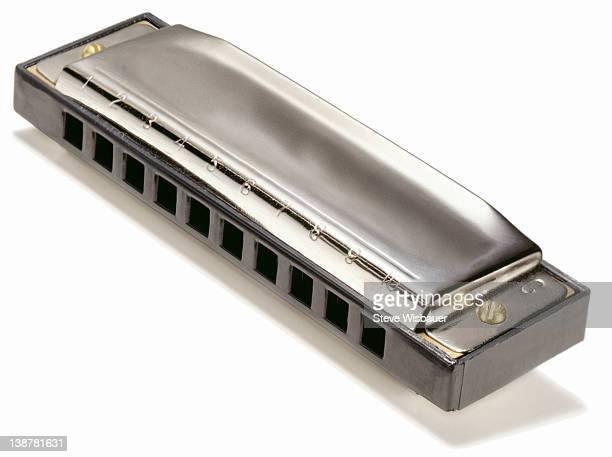 A chrome professional harmonica