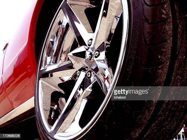 Chrome Rim on classic car