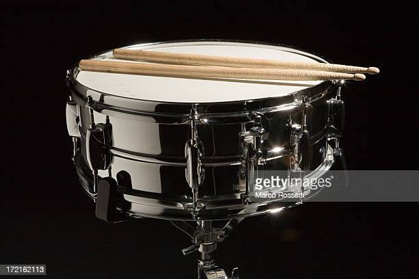 chrome snare drum - drum kit stock photos and pictures