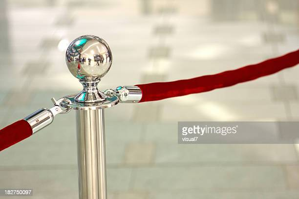 chrome stanchion post - cordon boundary stock pictures, royalty-free photos & images