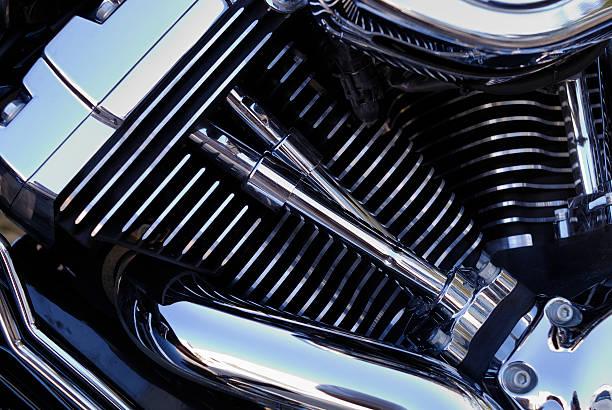 Chromed Motorbike Engine, Close-up Wall Art