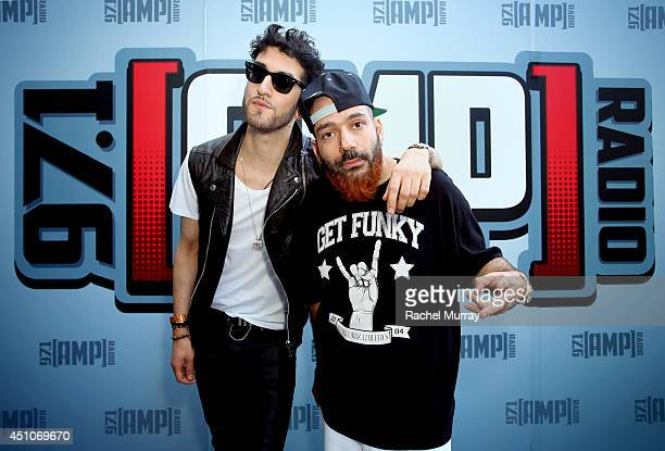 Chromeo attends the 971 AMP Radio Topless Summer Pool Party at the Viceroy on June 22 2014 in Santa Monica California
