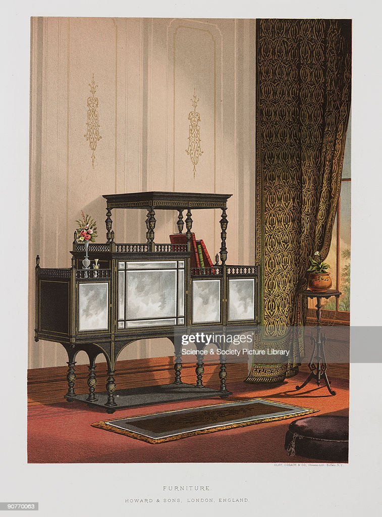 Superior Chromolithograph By Clay, Cosack U0026 Co Of A Piece Of Furniture Made By  Howard U0026