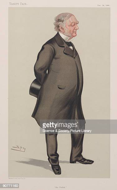 Chromolithograph by Vincent Brooks Day and Son Ltd of a caricature by Leslie Ward better known as Spy from �Vanity Fair� magazine Sir William James...