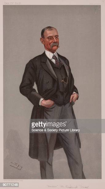 Chromolithograph by Vincent Brooks Day and Son Ltd of a caricature by Leslie Ward better known as Spy from �Vanity Fair� magazine Frederick Treves...