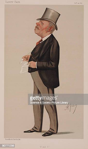 Chromolithograph by Vincent Brooks Day and Son Ltd of a caricature by Carlo Pellegrini, better known as Ape, from �Vanity Fair� magazine. Sir Thomas...