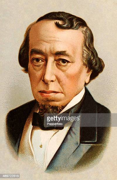 A chromolithograph of British Prime Minister Benjamin Disraeli The Earl of Beaconsfield published in London circa 1880