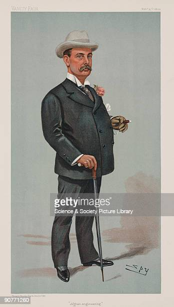 Chromolithograph subtitled �Afghan engineering� by Vincent Brooks Day Son of a caricature by Leslie Ward better known as Spy for �Vanity Fair�...