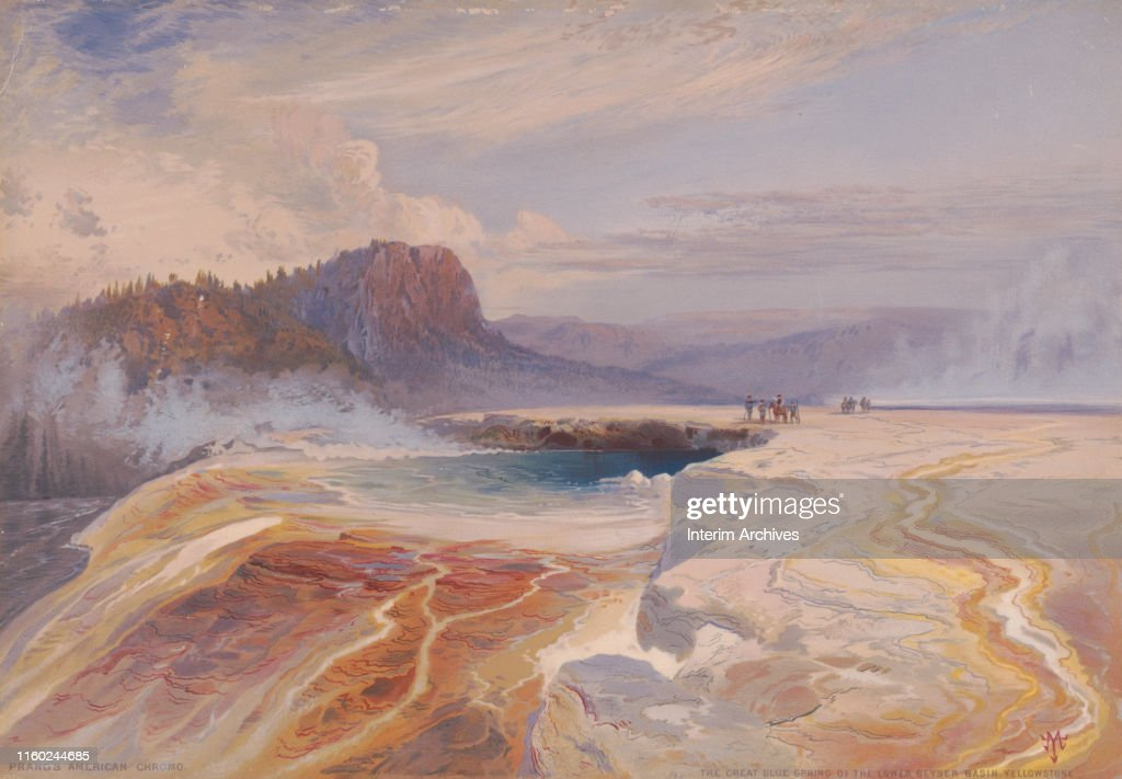 'The Great Blue Spring Of The Lower Geyser Basin' : News Photo