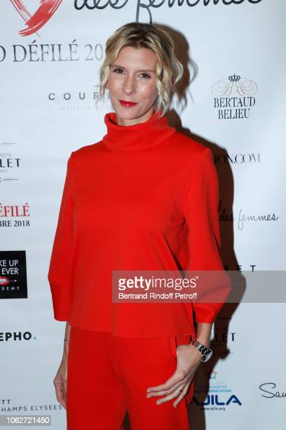 Chronicle at France Television Helene Gateau dressed by Tibi attends the Sauvez le Coeur des Femmes Red Defile Show at Hotel Marriot on November 16...