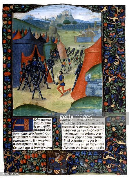 Chronicle of England by Jehan de Wavrin Episode of the Hundred Years' War Bombards France 15th century