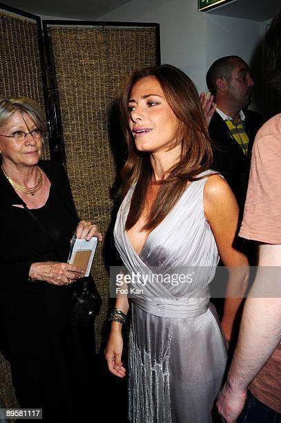 TV chronicler Elsa Fayer attends the Christophe Josse fashion show during Paris Fashion Week Haute Couture A/W 2010 at the Cite de l'Architecture et...