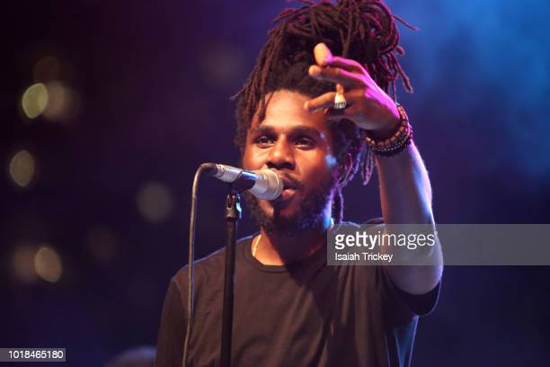 Akala attends the Chronixx And Zincfence Redemption Band Performance at Nathan Phillips Squareon August 17 2018 in Toronto Canada