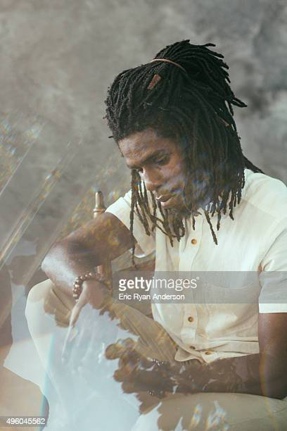 Chronixx poses for a portrait at the Governors Ball 2015 Music Festival for Billboard Magazine on June 6 2015 in New York City