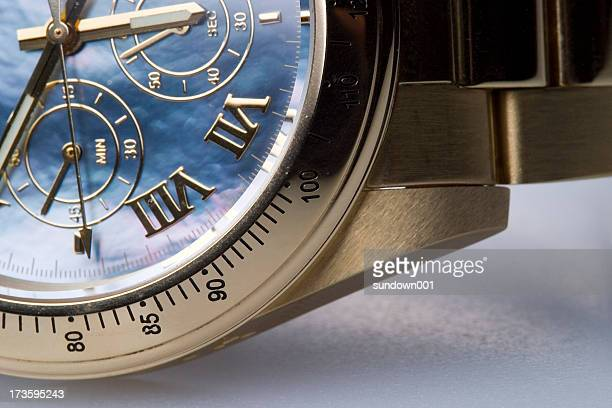 Chronograph being represented with clock in Roman numerals