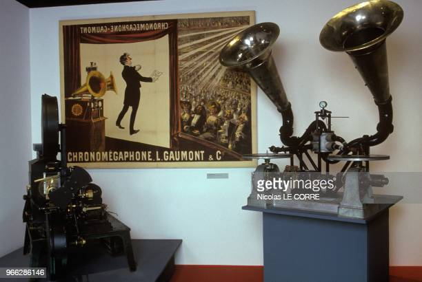 Chronomegaphone Projector For Movies With Sound At 100th Anniversary Of Gaumont Exhibition Musee Henri Langlois Paris February 27 1995