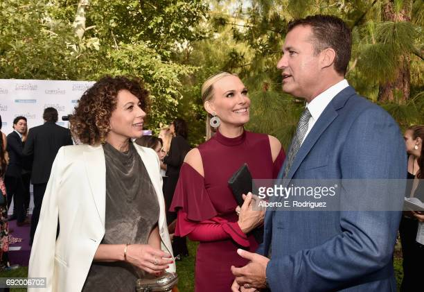Chrysalis Butterfly Ball Cochair Donna Langley model/actor Molly Sims and producer Scott Stuber at the 16th Annual Chrysalis Butterfly Ball on June 3...
