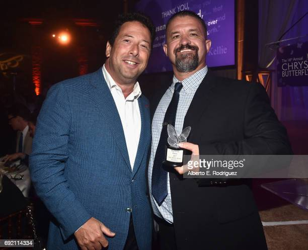 Chrysalis Butterfly Ball Cochair Josh Lieberman and Honoree Raymond Davis at the 16th Annual Chrysalis Butterfly Ball on June 3 2017 in Los Angeles...
