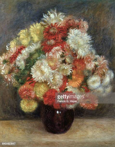 Chrysanthemums by PierreAuguste Renoir