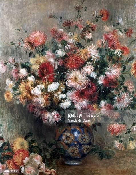 Chrysanthemums in a Vase by PierreAuguste Renoir