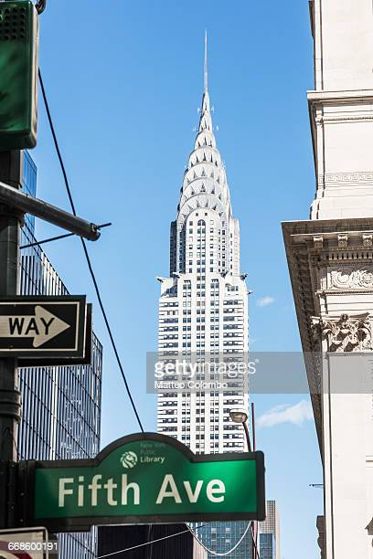chrysler building, 5th avenue, new york, usa - fifth avenue stock pictures, royalty-free photos & images