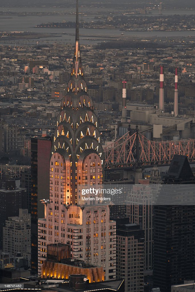 Chrysler Building in the evening. : Stockfoto